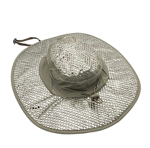 Yejante - Cooling Hat with UV Protection - Sun Hat for Men & Women - Perfect for Fishing, Hiking, Camping, Gardening, Beach, etc - Grey Color, Metallic, 36