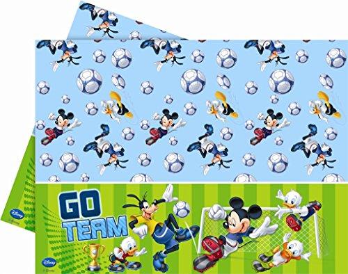 Disney Kunststoff-Tischdecke, Micky Maus und Fußball, 1,8 x 1,2m
