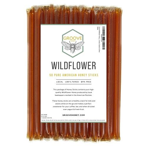 Wildflower Honey Sticks with Each Honey Stick Containing Pure Honey...