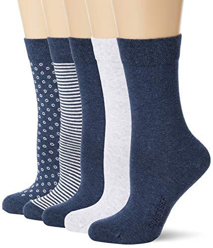 Schiesser Damen Multipack 5 Pack Damensocken Strümpfe Socken, Sortiert 2, 35-38 EU