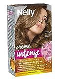 Nelly Set Tinte 7/00 Rubio Medio - Coloración permanente, 50 ml