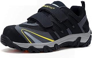 ZYFXZ Chaussures de sécurité légère Toe en acier confortable Cap MD Intercalaire absorption des chocs Porter hiver Chaussu...