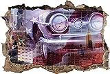 Etiqueta De La Pared 3D -Coche antiguo - Decoracion Habitacion, Decoracion Paredes Dormitorio, Decoracion Habitacion Juvenil, Vinilos Pared, Posters para Pared, Decoracion Hogar 70x110cm