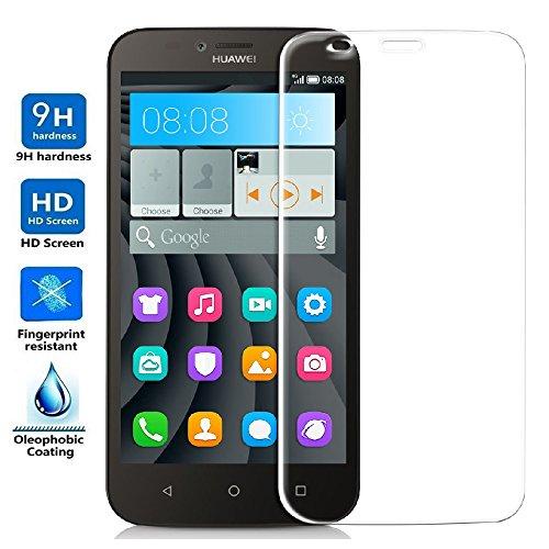 REY Protector de Pantalla para Huawei Y625 Cristal Vidrio Templado Premium