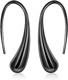 ARMRA Fashion Classic Silver Plate Thread Drop Earrings Teardrop Back Earrings