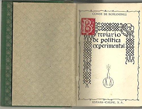 BREVIARIO DE POLITICA EXPERIMENTAL.
