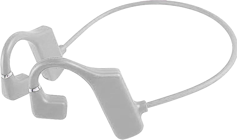 OCUhome Bone Conduction Headphones, Open Ear Headphones, G1 Bluetooth 5.1 Earphones IPX6 Waterproof 3D Surround Sound ABS Practical Wireless Bone Conduction Headsets for Sports Light Grey