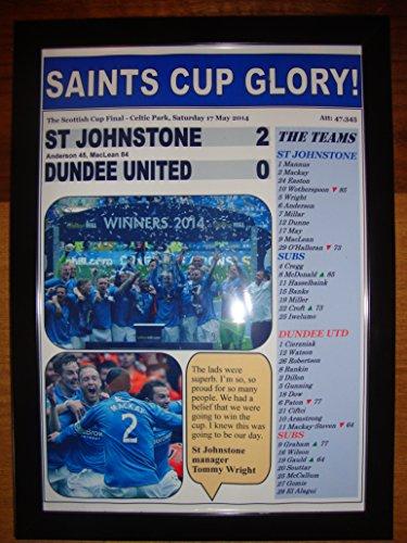 St Johnstone 2 Dundee United 0 - 2014 Scottish Cup final - framed print