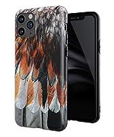 Attract iphone 11pro専用 ケース おしゃれ 人気 羽毛 かわいい おもしろ かっこいい IMD TPU アイフォンケース 傷防止 ソフト スリム軽量 レンズ保護 耐衝撃 指紋防止 アイフォン ケース case スマホケース (iphone 11pro, オレンジ色)