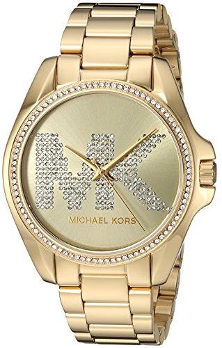 Relógio Michael Kors Mk6555 Bradshaw Dourado 43Mm