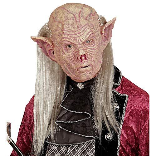 Widmann 05401 Vampir Maske mit Haaren, Rosa, One Size