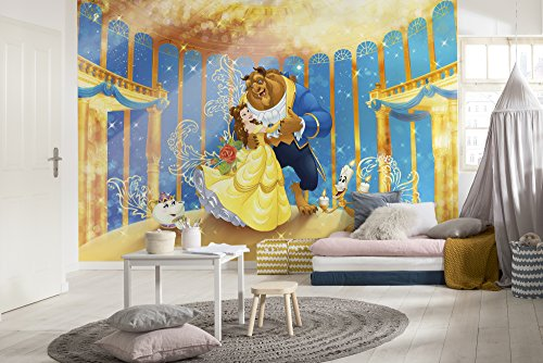 Komar - Disney - fotobehang BEAUTY AND THE BEAST- 368 x 254 cm - behang, wanddecoratie, prinses, kinderkamer, meisjes, mooie, beest, comic - 8-4022
