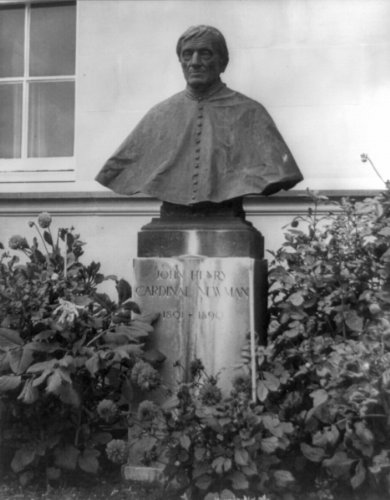 Historic Photos Cardenal John Henry Newman, 1801–1890. Estatua Busto en Trinity jardín, Oxford. C4