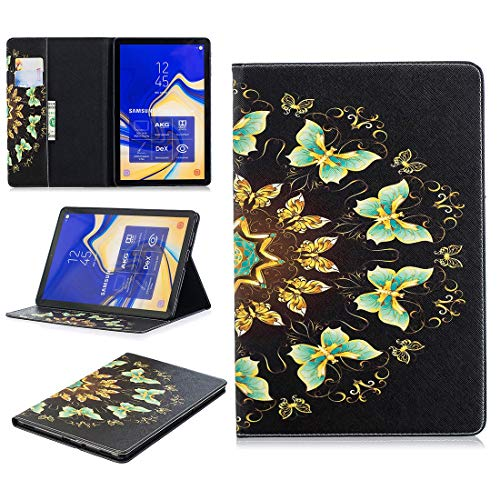 LIYONG Tablet Case Cover Pattern Flip Protection PU Leather Wallet Tablet Case for Samsung T830 Magnetic Ultra-Thin Anti-Drop Bracket Card Slot Case Bags Sleeves (Color : Semicircle Butterfly)