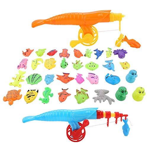 DAUERHAFT Juego de Juguetes de Pesca de plástico Premium 39pcs / Set, para bebé