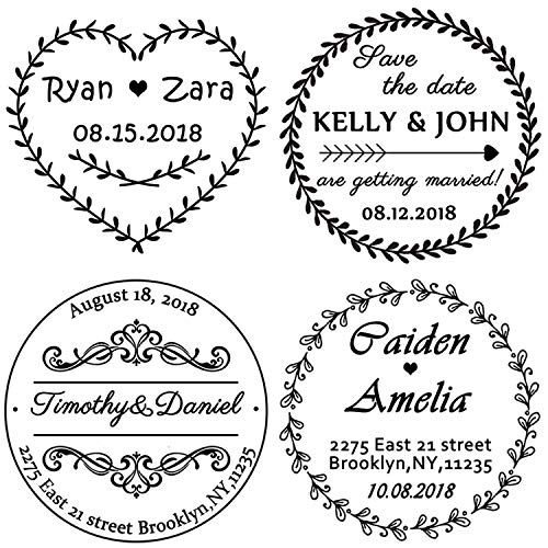 Timbri Matrimonio Personalizzato 40 mm - Timbro Personalizzati Indirizzo