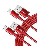 Anker USB C Kabel [2 Stück] 1,8 m doppelt-geflochtenes Nylon Type C Ladekabel, für Samsung Galaxy...