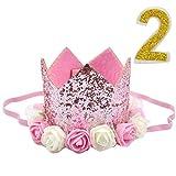 Jinlaili Princesa Corona Cumpleaños para Bebé, Sombrero de Fiesta de Cumpleaños, Gorro ...