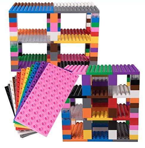 Set di mattoncini per Costruzione Torre - compatibili con Tutte Le Principali Marche - Solo mattoncini a pioli Grandi