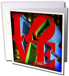 3dRose Greeting Cards, Sculpture Love Philadelphia, Set of 6 (gc_55952_1)
