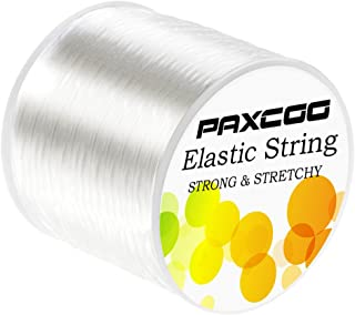 Paxcoo 1mm Elastic Bracelet String Cord Stretch Bead Cord for Jewelry Making and Bracelet Making