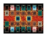 CastleRealty遊戯王 新マスタールール プレイマット 61×49cm EXゾーン 対応 リンク召喚 ラバーマット二人用 (Color : 収納袋付き, Size : 61 49)