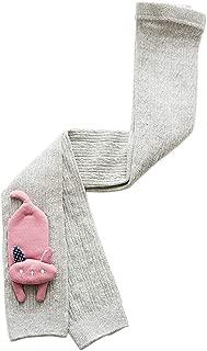 Weixinbuy Newborn Baby Girl's Cartoon Pattern Soft Fabric Basic Elastic Footless Knitted Stocking Leggings Pants Trousers