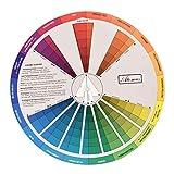 Amuzocity Círculo Cromático de Colores para Guía de Mezcla de Colores - 23,5 Cm