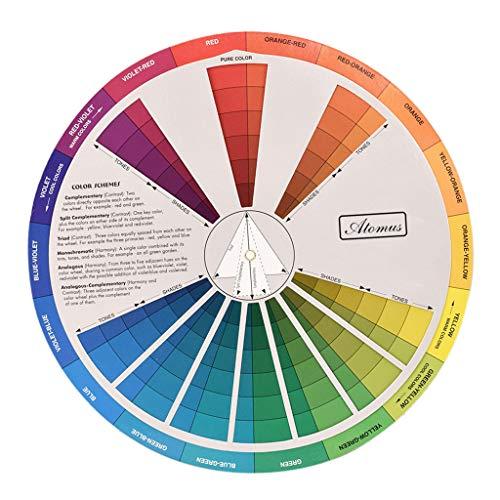SDENSHI Rueda Guía de Mezcla de Colores Profesional para Mezclar Pigmentos a Juego con Pintura