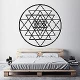 Pegatinas de pared calcomanía de meditación de geometría sagrada, decoración de diagrama místico espiritual para pegatinas de pared de dormitorio A7 42x42cm