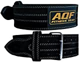 AQF Weight Lifting Nubuck Leather Power Belt Back Support Strap Gym Training Dip, Small, Medium, Large, XLarge...