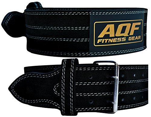 AQF Cinturon Lumbar Gimnasio para Levantamiento De Cinturon Gym Pesas De Cuero Acolchado De 4' Pulgadas para Musculación Ejercicio De Físico Culturismo (M)