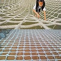 ロープネッティングクライミングネット子供大人クライミングネットロープ貨物スイングセット大岩遊び場ツリー屋外ネットメッシュ屋内巨大ヘビー,14mm*12cm,1*4m(3.3*13ft)