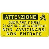 Cartella metallo Area Difesa Cani Addestrati Cane...