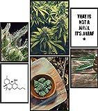 Papierschmiede® Mood-Poster Set Cannabis | 6 Bilder als