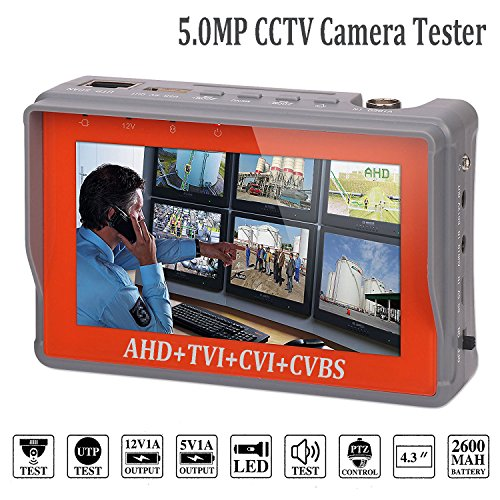 Lowest Prices! 4 in 1 CCTV Tester for 1080P/3.0mp/4.0mp/5.0 Megapixel AHD, TVI, CVI, CVBS Analog Sec...
