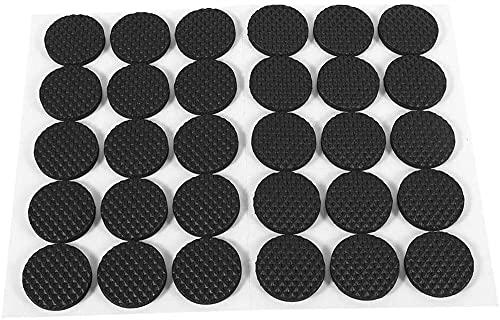 LGR 48 Piezas Circulares Negras Antideslizantes Autoadhesivas Almohadillas Protectoras de pies de Goma Muebles para gabinetes pequeños electrodomésticos electrónicos