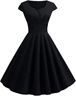 KCatsy Plus Size Vintage Fit and Flare Dress