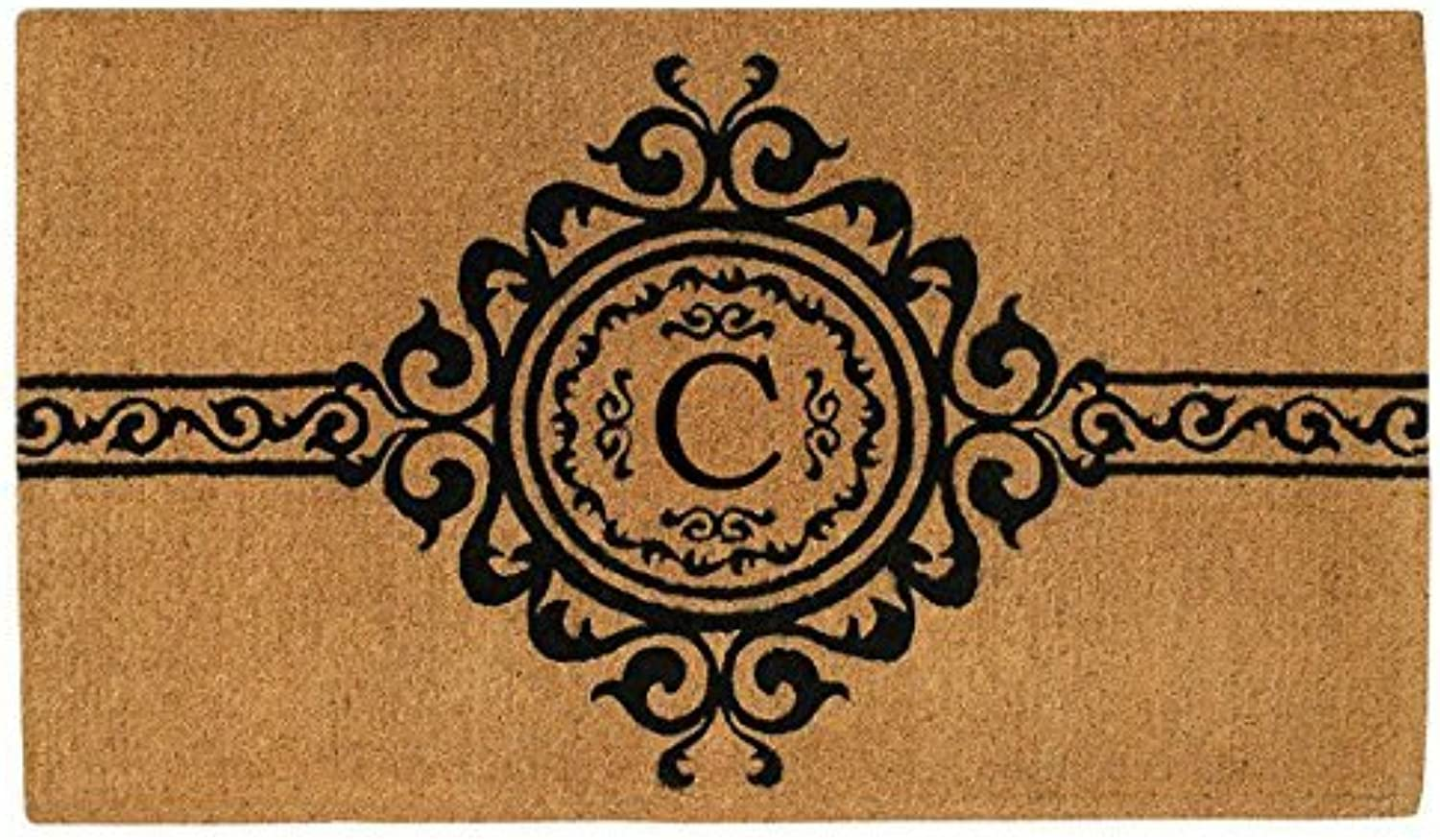 Home & More 180072436C Garbo 2' X 3' Extra-thick Monogrammed Doormat (Letter C)