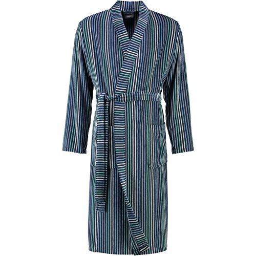 Cawö Home Bademantel Herren Kimono treifen 5848 blau-Petrol - 11 XL