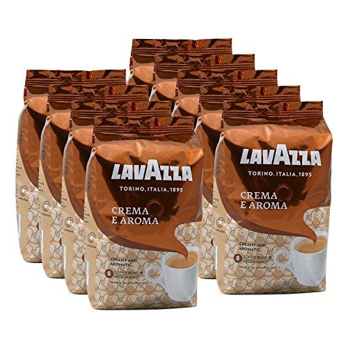 Lavazza Kaffee Crema E Aroma, ganze Bohnen, Bohnenkaffee (9 x 1kg Packung)