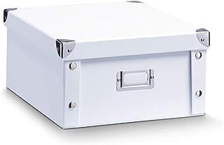 Zeller 17763 Caja de almacenaje de cartón Blanco (White) 31 x 26 x 14 cm