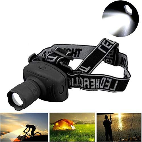 HS-HWH219 2000 lumen LED-koplamp, krachtige zaklamp, frontaal, lantaarn, zoombaar, fakkellicht, voor fiets, kamperen, jagen, vissen
