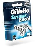 Gillette - Cargador Cuchillas Sensor Excel 10 (10 unidades)