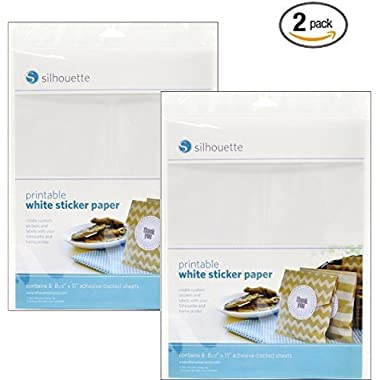 Silhouette Printable White Sticker Paper (2 Pack)