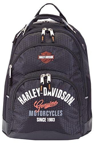 Harley Davidson - Zaino con cavo in acciaio (coda del drago), Cruz V2 Fresh Foam (nero) - 99220 BLK