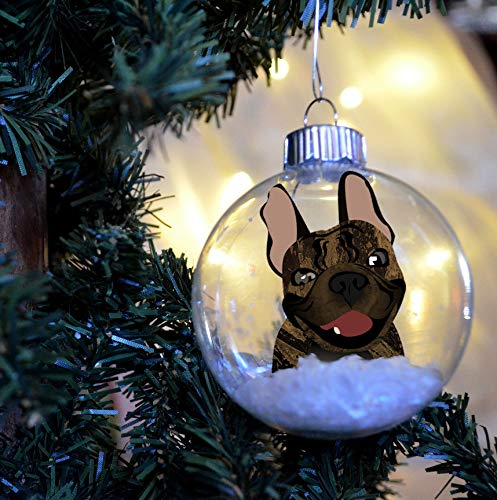 DONL9BAUER French Bulldog Christmas Floating Ornament Funny PET Bulb Dog Present Fre-nchie Memorial Br-indle