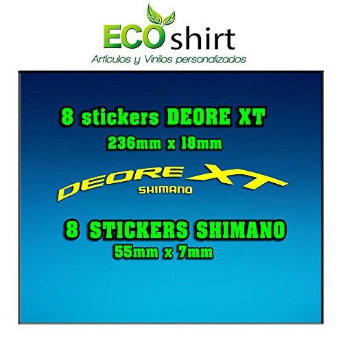 Ecoshirt 4L-T9IH-M5FE Pegatinas Stickers Llanta Rim Shimano Deore XT 29' Am49 MTB Downhill