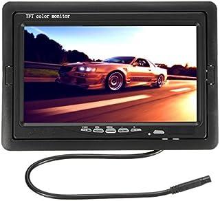 GOZAR Coche De Visión Trasera 7Inch Tft LCD Monitor + 170 ° Impermeable Atrás Cámara De