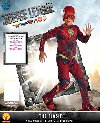 Rubie's Costume Boys Justice League The Flash Costume, Medium, Multicolor